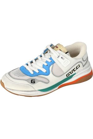 Gucci Leather and Fabric Ultrapace Low-Top Sneakers Size 38.5