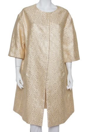 Max Mara Brocade Button Front Mid Length Oversized Coat S