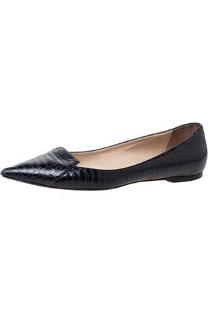 Jimmy Choo Python Leather Attila Pointed Toe Flats Size 40