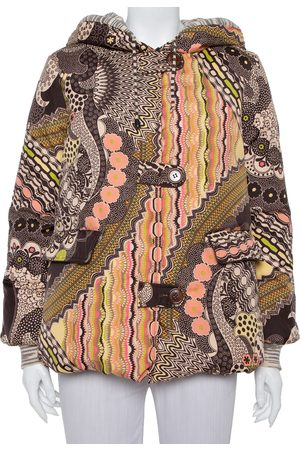 Missoni Abstract Printed Synthetic Hooded Puffer Jacket S
