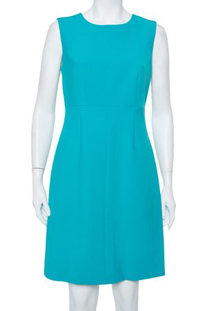 Diane von Furstenberg Turquoise Knit Sleeveless Sheath Carrie Dress M