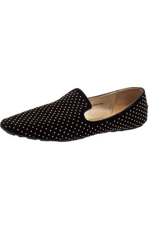 Jimmy Choo Studded Suede Wheel Smoking Slippers Size 41