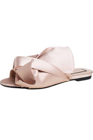 Nº21 Satin Knot Flat Mules Size 40