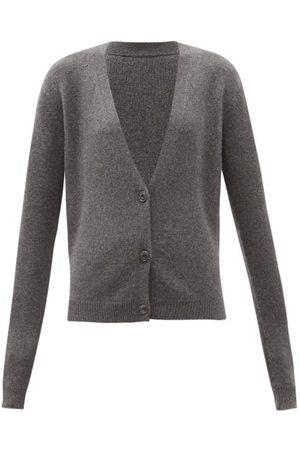 Raey Women Cardigans - Organic-cashmere Knitted Cardigan - Womens - Grey Marl