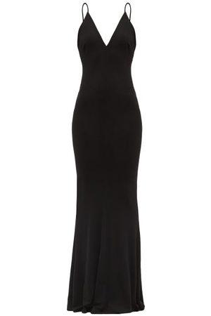 ALEXANDRE VAUTHIER V-neck Jersey Gown - Womens