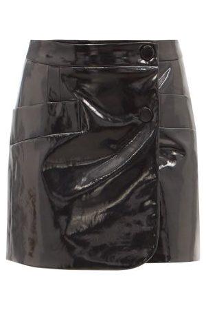 Elzinga Women Mini Skirts - High-rise Vinyl Mini Skirt - Womens