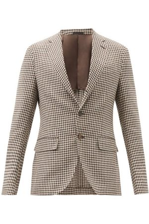 CARUSO Aida Single-breasted Checked Wool-blend Blazer - Mens