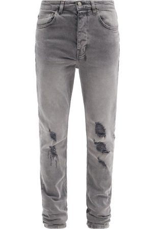 KSUBI Chitch Prodigy Distressed Slim-leg Jeans - Mens - Grey