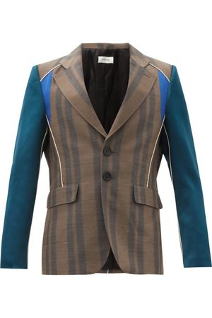 Wales Bonner Isaacs Single-breasted Striped Wool-blend Jacket - Mens