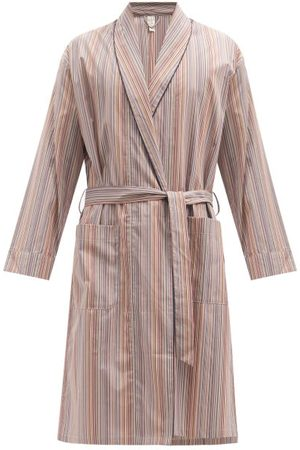 Paul Smith Men Bathrobes - Signature Stripe Cotton Bathrobe - Mens - Multi