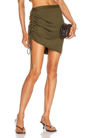 JoosTricot Women Mini Skirts - String Skirt in Olive