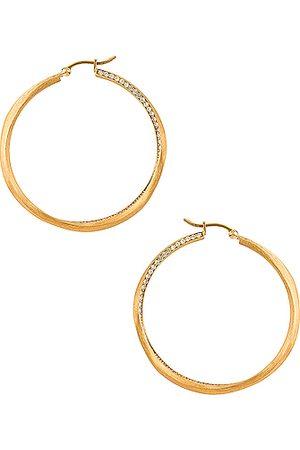 COMPLETEDWORKS Double Hoop Earrings in Metallic