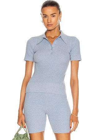 JoosTricot Polo Top in Baby Blue