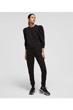 Karl Lagerfeld Women Pants - RHINESTONE KARL LOGO SWEATPANTS