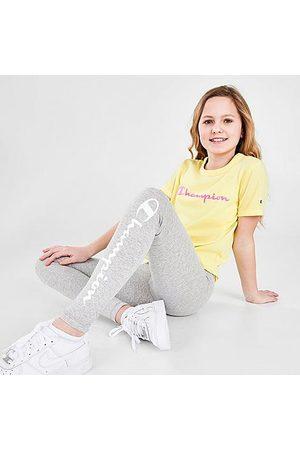 Champion Girls' Script Logo Leggings Size Small Cotton/Spandex