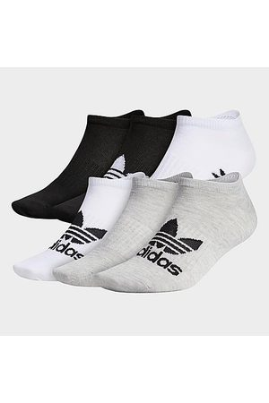 adidas Originals Classic Superlite No-Show Socks (6-Pack) in /Grey/ /Grey Size Large Polyester/Knit