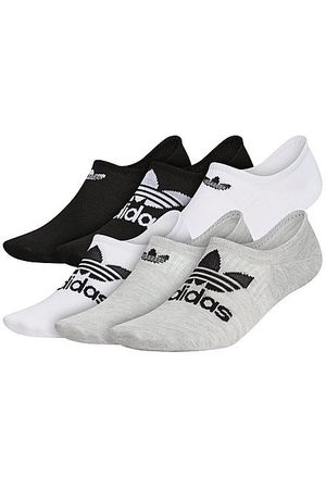 adidas Originals Classic Superlite Super-No-Show Socks (6-Pack) in /Grey/ / Size Large Polyester/Knit