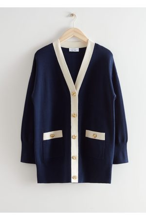 & OTHER STORIES Women Cardigans - Oversized Gold Button Cardigan