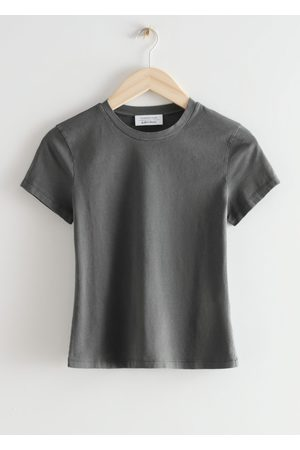 & OTHER STORIES Women T-shirts - Fitted Crewneck T-Shirt - Grey