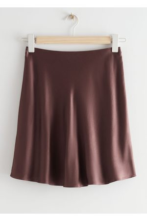 & OTHER STORIES Women Mini Skirts - Satin Mini Skirt