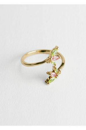 & OTHER STORIES Women Rings - Twisted Gemstone Ring