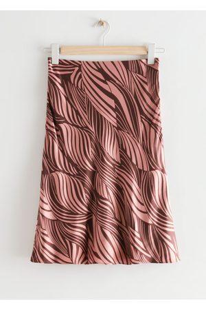 & OTHER STORIES Women Printed Skirts - Swirl Print Midi Skirt