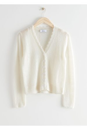 & OTHER STORIES Women Cardigans - Alpaca Blend Heart Knit Cardigan