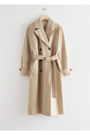 & OTHER STORIES Women Trench Coats - Relaxed Belted Cotton Trench Coat