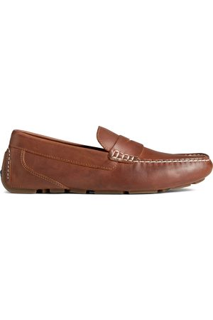Sperry Top-Sider Men Loafers - Men's Sperry Harpswell Penny Loafer Tan, Size 9M