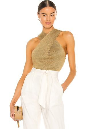 BROCHU WALKER Women Tank Tops - Ina Wrap Tank in Tan.