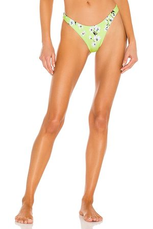 Vitamin A California High Leg Bikini Bottom in Green.