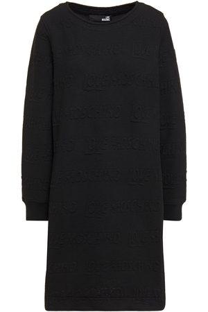 Love Moschino Woman Embossed Stretch-jersey Mini Dress Size 38