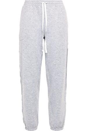 DKNY Women Pajamas - Woman Jacquard-trimmed Mélange Fleece Pajama Pants Size L