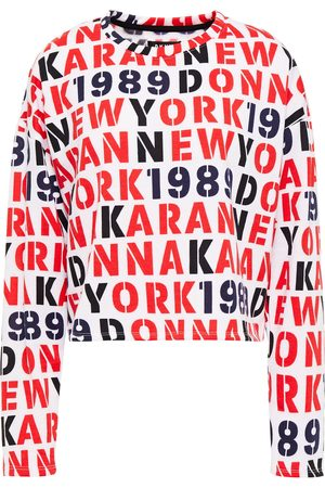DKNY Woman Embroidered Printed Fleece Pajama Top Size L