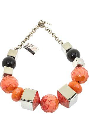Etro Chunky Beaded Silver Tone Necklace