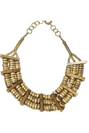 Etro Aged Tone Layered Dome Necklace