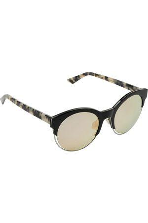Dior Black & Havana/ Bicolor Mirrored Sideral1 Round Sunglasses