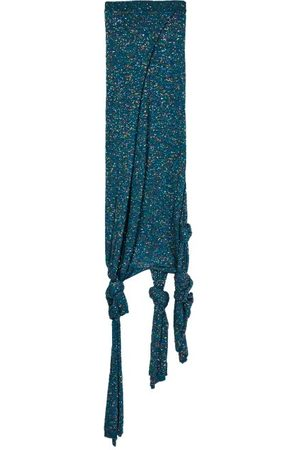 Loewe Knotted Sequinned Knitted Skirt - Womens