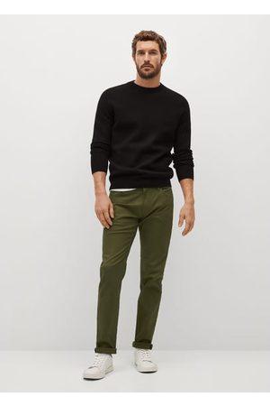 MANGO Men Skinny Pants - Slim fit denim-effect serge pants