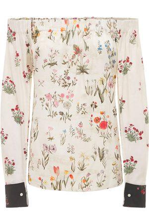 Max Mara Floral Print Cotton Poplin Shirt