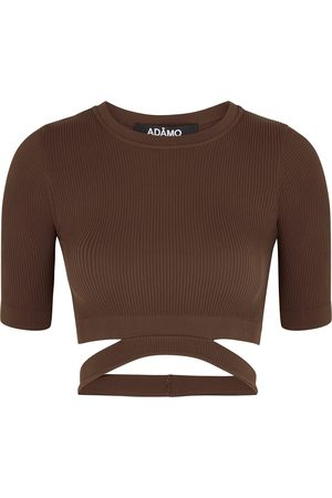 Andrea Adamo Women Tops - Cut-out cropped ribbed top
