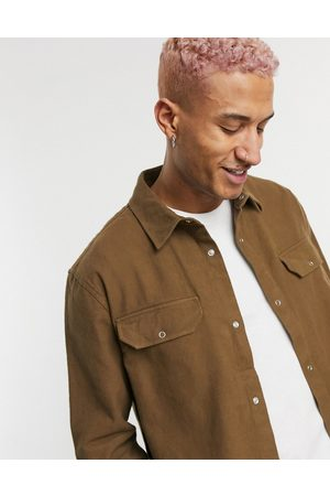 Weekday Jud shirt in brown