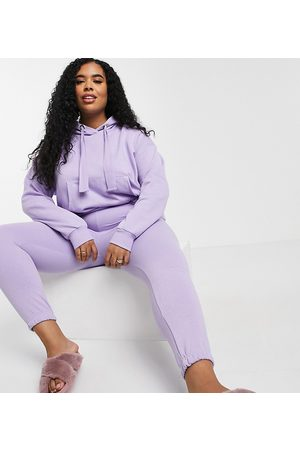 Chelsea Peers Curve eco jersey lounge sweatpants in lilac