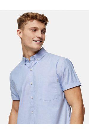 Topman Slim oxford shirt in light blue-Blues