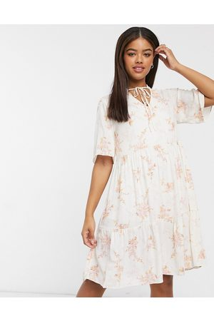 Vila Mini smock dress in floral print