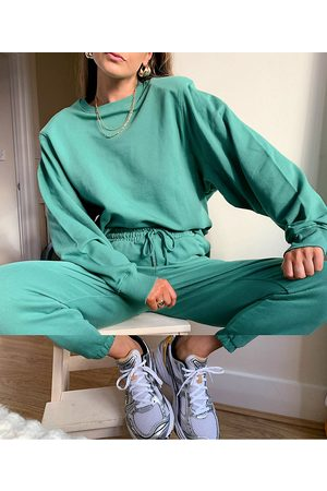ASOS Tracksuit oversized shoulder pad sweatshirt / oversized sweatpants in