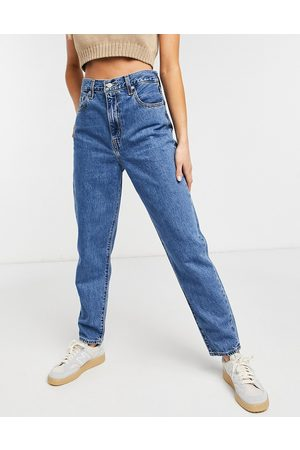 Levi's Women High Waisted - High loose tapered jean in midwash blue-Blues
