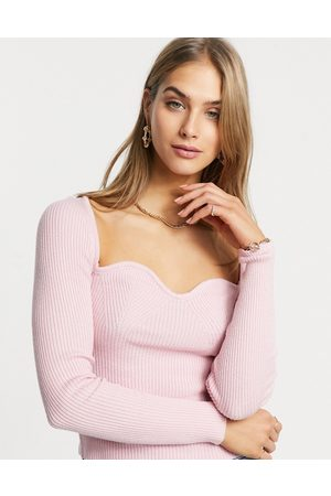 ASOS Sweater with sweetheart neckline in