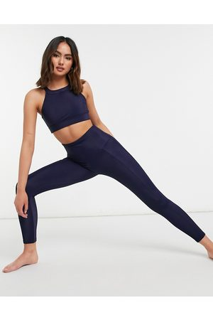 Onzie High waisted ribbed leggings in navy