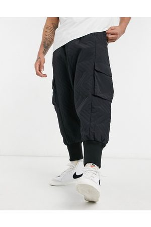ASOS Oversized drop crotch pants with elasticated waist in quilted design